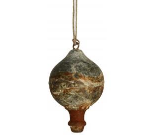 Juleophæng i jern H13 x Ø7 cm - Antik jern