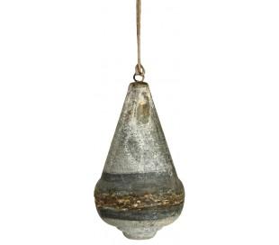 Juleophæng i jern H15 x Ø8 cm - Antik jern