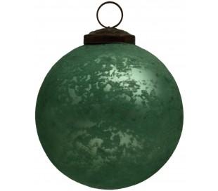 Julekugle i glas Ø10 cm - Antik grøn