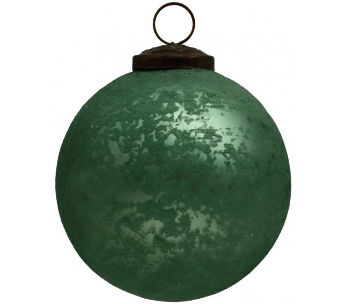 faro barcelona – Julekugle i glas ø10 cm - antik grøn fra lepong.dk