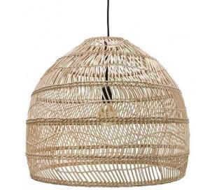 Loftlampe i rattanflet Ø60 cm 1 x E27 - Natur