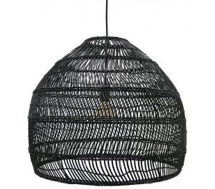 Loftlampe i rattanflet Ø60 cm 1 x E27 - Sort