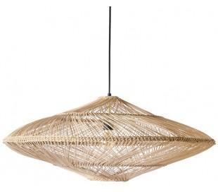 Loftlampe i rattanflet Ø80 cm 1 x E27 - Natur