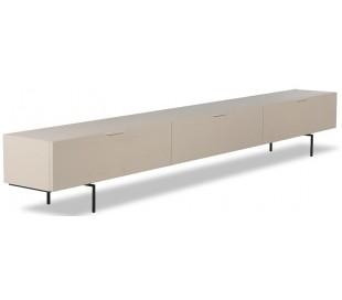 Tvbord i sungkaitræ og metal H36 x B250 cm - Sort/Sand