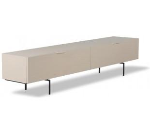 Tvbord i sungkaitræ og metal H36 x B167 cm - Sort/Sand