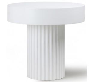 Sofabord i sunkaitræ og mdf Ø49 cm - Hvid