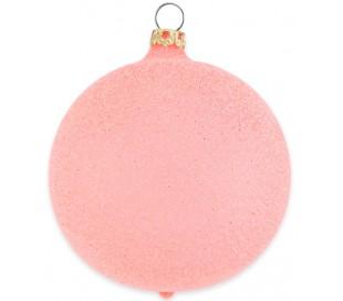 Julekugle i mundblæst glas Ø8 cm - Mat hummer rød