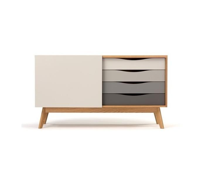 Avon sideboard i retro design – Eg/Grå