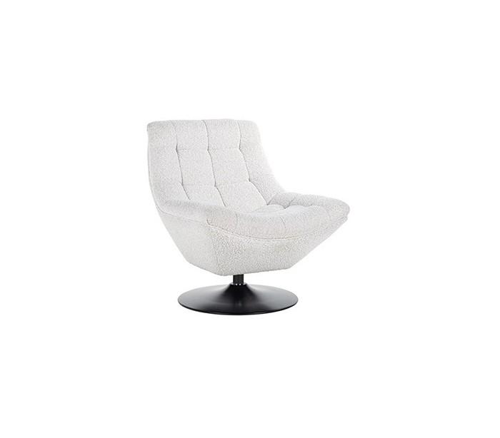 richmond interiors – Richelle rotérbar lænestol i polyester h81 cm - sort/hvid fra lepong.dk