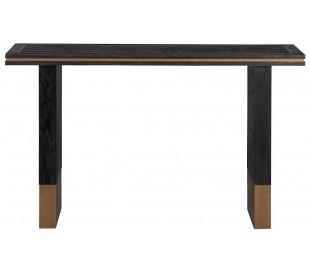 Hunter konsolbord i egetræsfinér og stål B150 cm - Sort/Antik guld