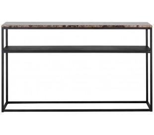 Orion konsolbord i marmor og metal B140 cm - Sort/Brun marmor