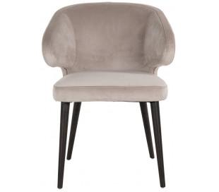 Indigo spisebordsstol i velour H81 cm - Sort/Khaki
