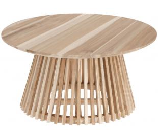 Irune sofabord i teaktræ H40 x Ø80 cm - Natur