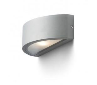 LESA Up-Down Udendørs væglampe - Sølv grå
