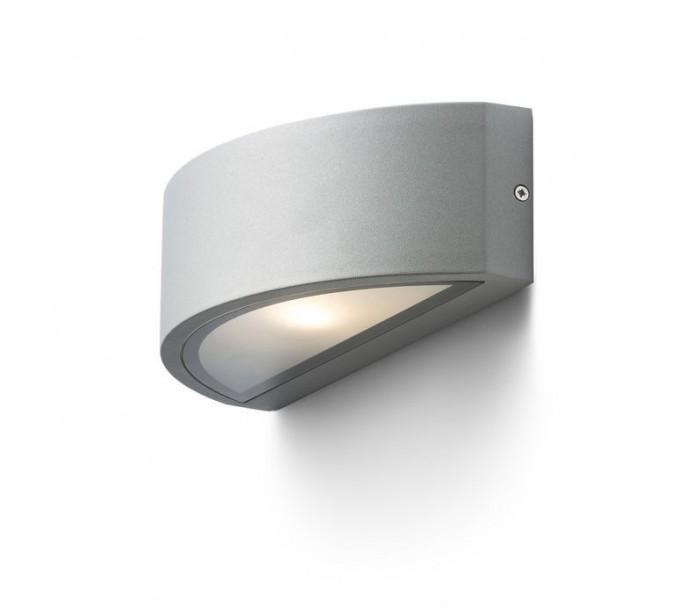 Lesa up-down udendørs væglampe - sølv grå fra rendl light studio fra lepong.dk