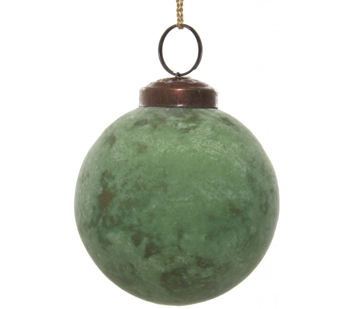 där lighting – Julekugle i glas ø8 cm - oxideret grøn fra lepong.dk