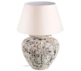 Bordlampe i cement og tekstil H90 cm 1 x E27 - Antik beige/Beige