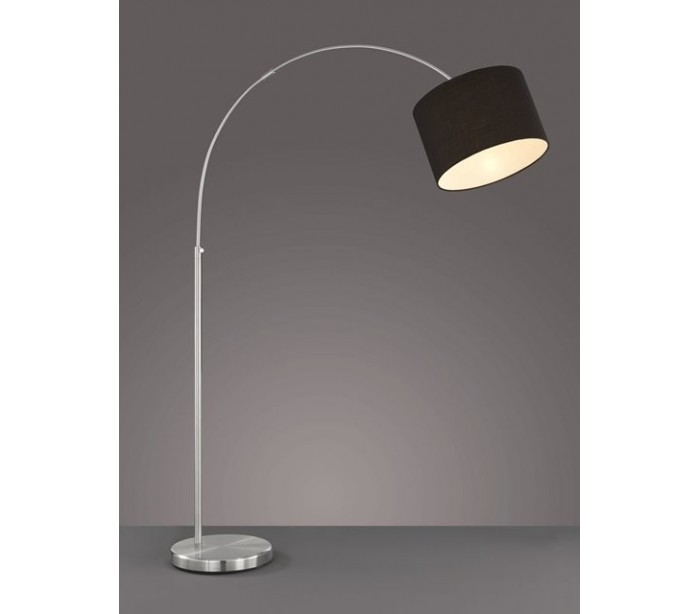 Image of   Gulvlampe med bue E27 - Sort