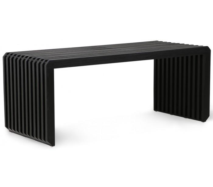 Bænk i sunkaitræ b96 cm - sort fra selected by lepong fra lepong.dk