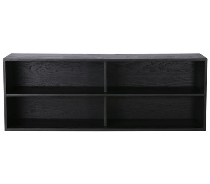 Modul A kabinet med 2 hylderum B100 cm - Sort