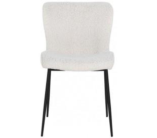 Darby spisebordsstol i polyester H84,5 cm - Sort/Hvid