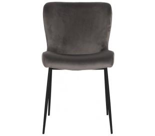 Darby spisebordsstol i velour H84,5 cm - Sort/Stengrå