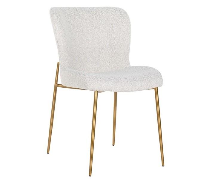 Odessa spisebordsstol i polyester h84,5 cm - børstet guld/hvid fra richmond interiors på lepong.dk