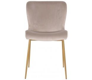 Odessa spisebordsstol i velour H84,5 cm - Børstet guld/Khaki