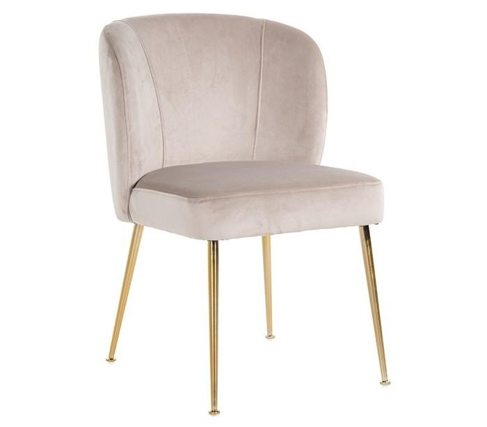 richmond interiors – Cannon spisebordsstol i velour h84 cm - børstet guld/khaki fra lepong.dk