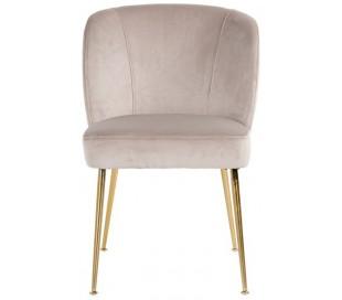 Cannon spisebordsstol i velour H84 cm - Børstet guld/Khaki