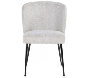Fallon spisebordsstol i polyester H84 cm - Hvid/Sort