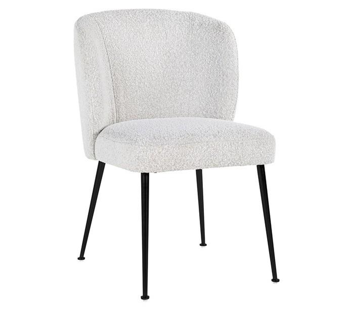 richmond interiors Fallon spisebordsstol i polyester h84 cm - hvid/sort på lepong.dk
