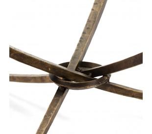 Sofabord i metal og glas Ø92 cm - Antik bronze/Klar