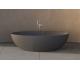 Ideavit Solidellipse fritstående badekar 180 x 88 cm Solid surface - Mat mørkegrå