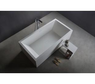 Ideavit Solidvitas fritstående badekar 180 x 80 cm Solid surface - Mat hvid
