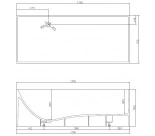 Ideavit Solidstar fritstående badekar 170 x 72 cm Solid surface - Mat hvid