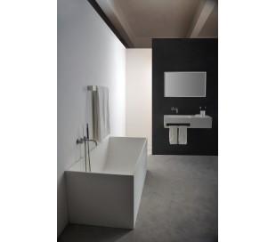 Ideavit Solidstar fritstående badekar 180 x 76 cm Solid surface - Mat hvid