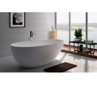 Ideavit Solidsurf fritstående badekar 170 x 88 cm Solid surface - Mat hvid