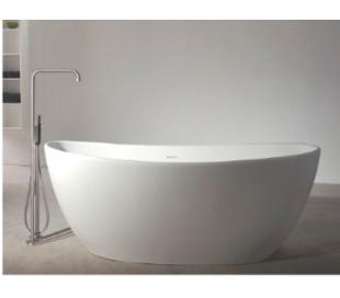Ideavit Solidseal fritstående badekar 163 x 85 cm Solid surface - Mat hvid