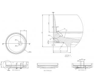 Ideavit Solidfloat-40 bordmonteret håndvask Ø40 cm Solid surface - Mat mørkegrå