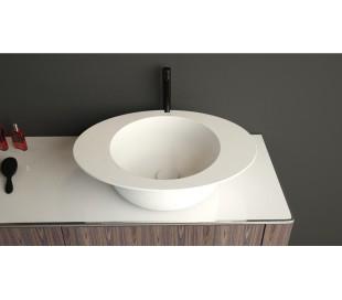 Ideavit Solidcap 3.0 bordmonteret håndvask 60 x 45,2 cm Solid surface - Mat hvid