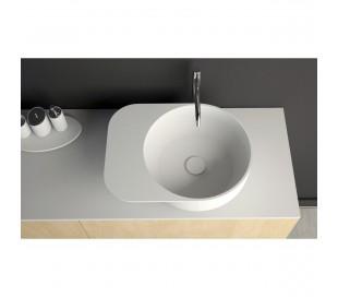 Ideavit Solidcap 6.0 bordmonteret håndvask 50 x 38 cm Solid surface - Mat hvid