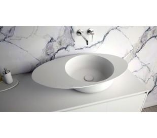 Ideavit Solidcap bordmonteret håndvask 80,4 x 45,2 cm Solid surface - Mat hvid