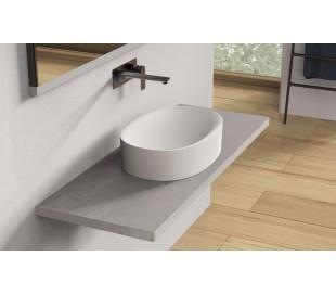 Ideavit Solidcliff-50 bordmonteret håndvask 50 x 35 cm Solid surface - Mat hvid