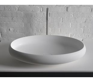 Ideavit Solidego bordmonteret håndvask 60 x 40 cm Solid surface - Mat hvid