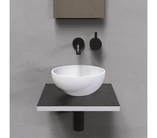 Ideavit Solidmicro bordmonteret håndvask Ø23 cm Solid surface - Mat hvid