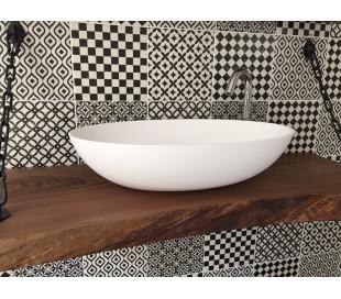 Ideavit Solidthin bordmonteret håndvask 60 x 40 cm Solid surface - Mat hvid