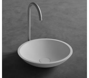 Ideavit Solidfox bordmonteret håndvask Ø35 cm Solid surface - Mat hvid