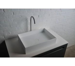 Ideavit Solidjoy bordmonteret håndvask 50 x 35 cm Solid surface - Mat hvid