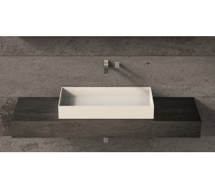 Ideavit Solidjoy bordmonteret håndvask 75 x 37,5 cm Solid surface - Mat hvid
